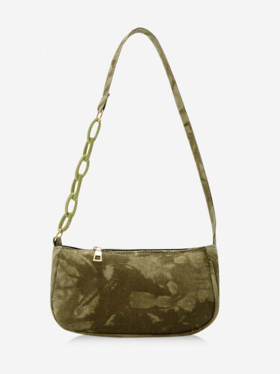 Tie Dye Chain Shoulder Bag - اخضر فاتح
