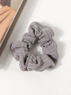 Solid Knitted Fabric Scrunchie - Gray