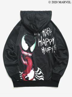 Marvel Spider-Man Venom Glücklich DruckHoodie - Schwarz L