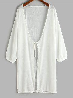 Gebundene Langline Cover-Up Top - Weiß