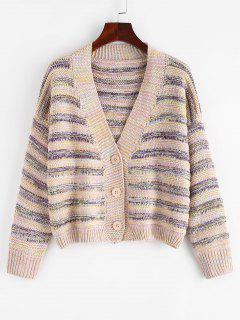 ZAFUL Button Up Multicolor Cardigan - Multi