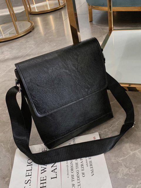 outfits Cover Square Crossbody Bag - BLACK  Mobile