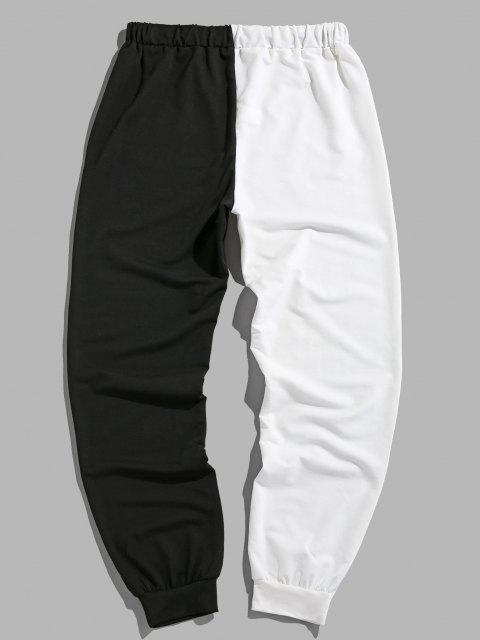 ZAFUL Pantalones de Dos Colores de Cara Sonriente - Multicolor S Mobile
