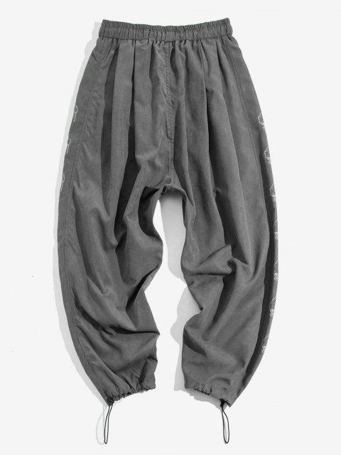 Pantalones Trotar Patrón Dibujos Animados Cintura Elástica - Gris Oscuro M Mobile