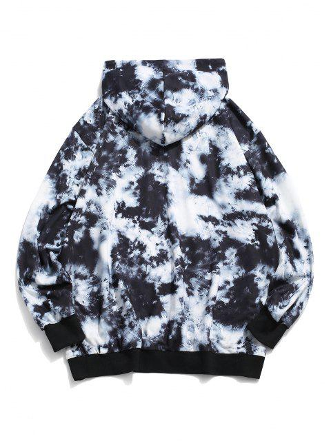 women ZAFUL Find The Joy Of Life Tie Dye Print Hoodie - MULTI S Mobile