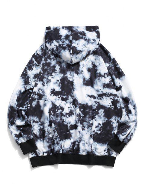ladies ZAFUL Find The Joy Of Life Tie Dye Print Hoodie - MULTI L Mobile