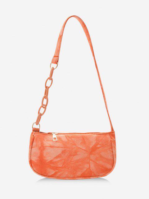 latest Tie Dye Chain Shoulder Bag - DARK ORANGE  Mobile