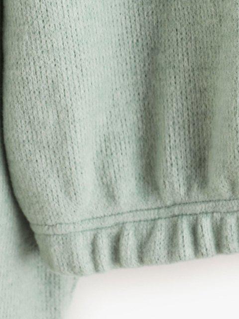 Maglione Corto con Cerniera di ZAFUL - Cyan Opaco XL Mobile