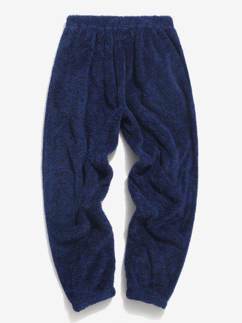 Pantalones Esponjoso de Cordones con Apliques Bordados - Azul Cobalto L Mobile