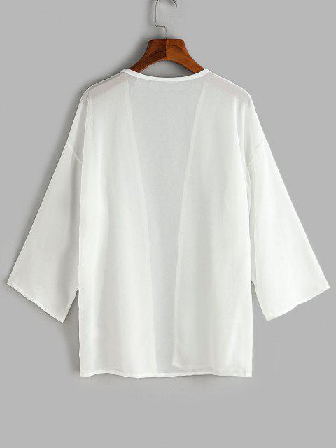 Top de Playa de Hombros Caídos - Blanco M Mobile