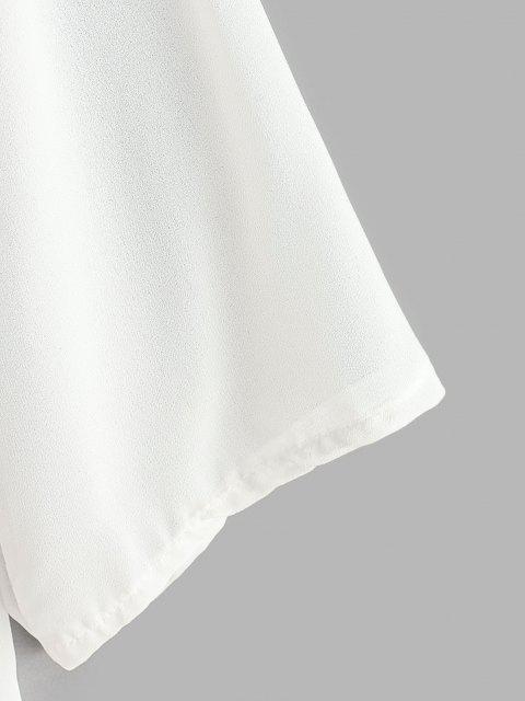 Haut de Plage Ouvert en Avant à Goutte Epaule - Blanc 2XL Mobile