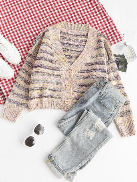 fancy ZAFUL Button Up Multicolor Cardigan - MULTI ONE SIZE Mobile