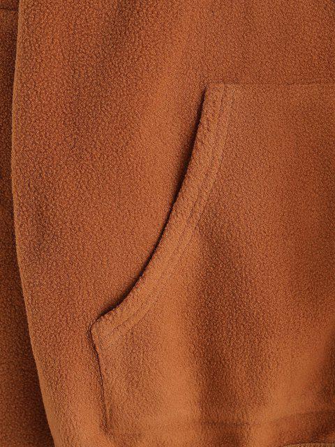 ZAFUL Manteau Goutte Epaule avec Poches en Laine - Orange Tigre M Mobile