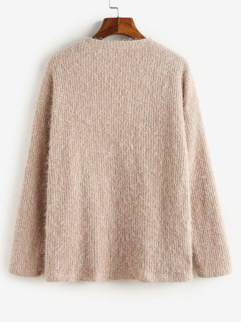 Cardigan di ZAFUL con Bottoni - Khaki Rose S Mobile
