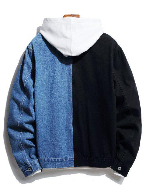 Jaqueta Jean de Dois Botões com Botão - Jeans Azul L Mobile