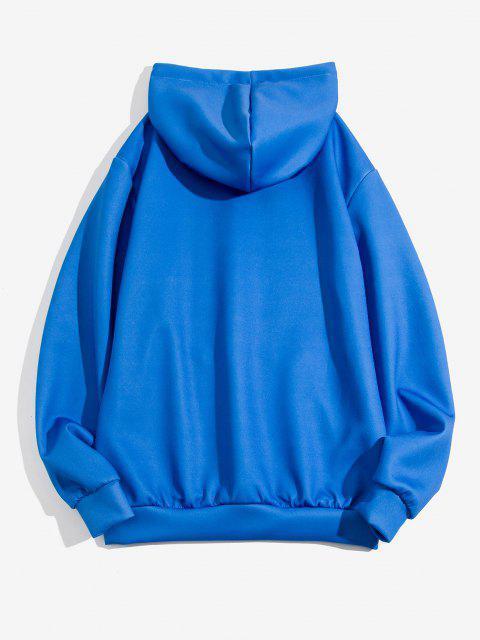 Sudadera Sudadera con Capucha Estampado Rosas Mariposa - Azul Cobalto 3XL Mobile