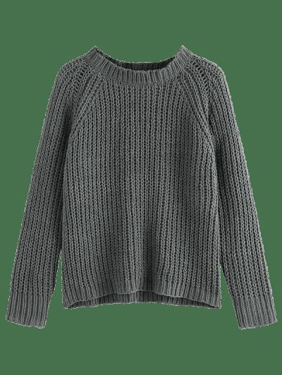 ZAFUL Raglan Sleeve Chenille Chunky Knit Sweater