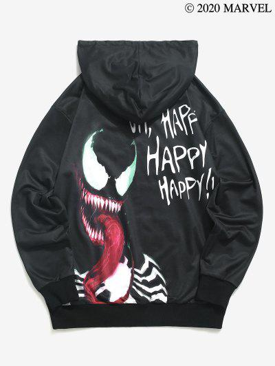 Marvel Spider-Man Venom Happy Print Hoodie - Black L