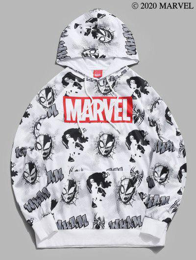 Marvel Spider-Man Venom Comic Graphic Hoodie - White 2xl