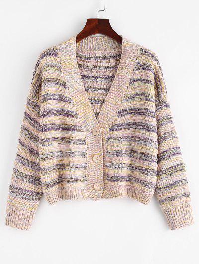 ZAFUL Button Up Multicolor Cardigan - Multi