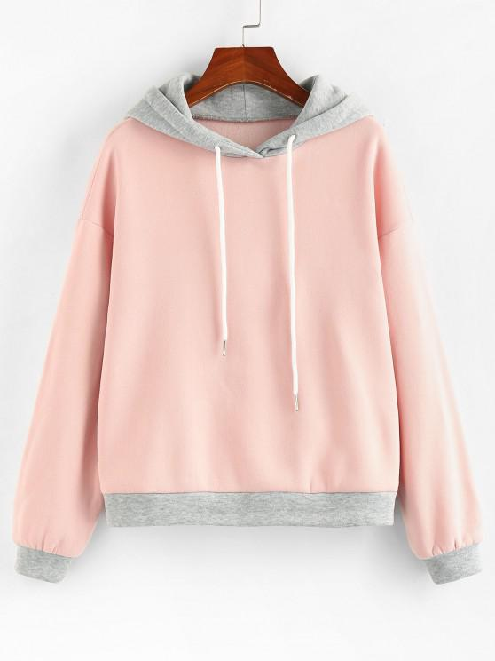 ZAFUL Two Tone Fleece Lined Bicolor Hoodie - متعددة-A S
