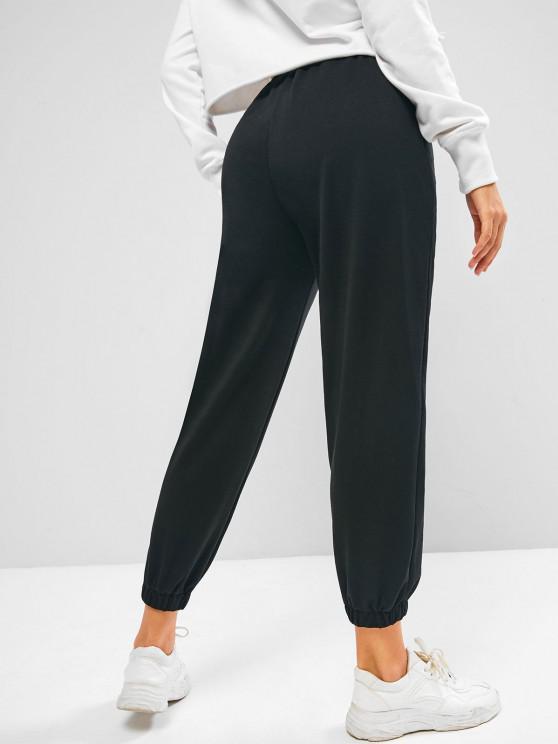 ZAFUL Flame Pattern Pull On Jogger Sweatpants - Black M