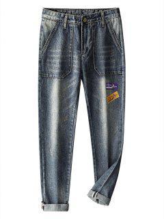 Jeans Strappati - Blu Grigio 38
