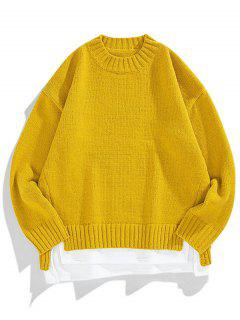 Crew Neck Sweater Extender Colorblock - Biene Gelb L