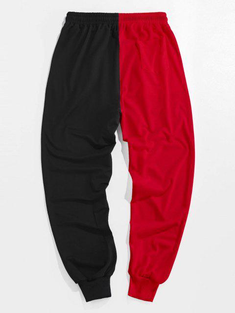 ZAFUL Pantalones Deportivos de Dos Colores con Estampado de Dibujo Animado - Rojo Lava L Mobile