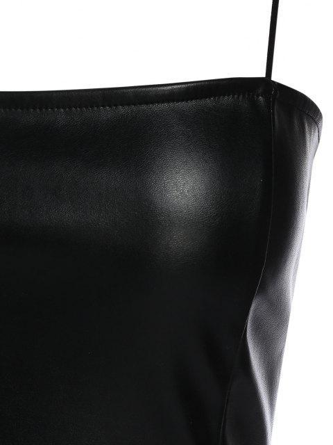 ZAFUL Débardeur Simple à Bretelle en Faux Cuir - Noir XL Mobile