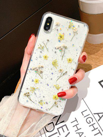 Dried Flowers Transparent TPU Phone Case For IPhone XS - Multi-a	 Iphone Xs