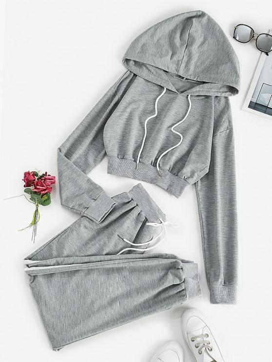 Conjunto suéter de duas peças - Cinza claro L
