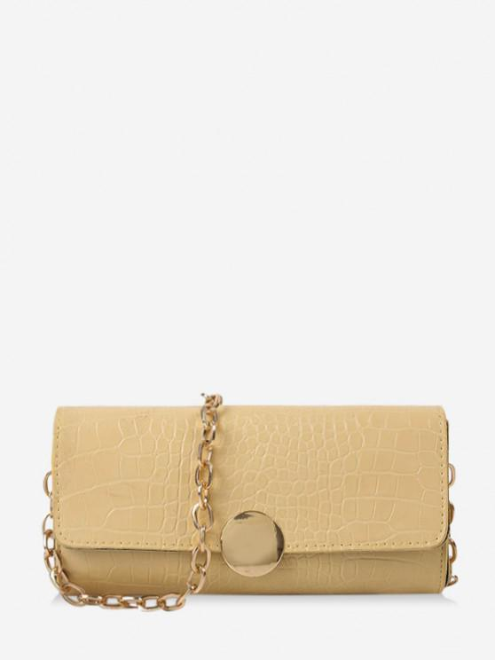 fashion Chain Croc Print One Shoulder Bag - LIGHT YELLOW