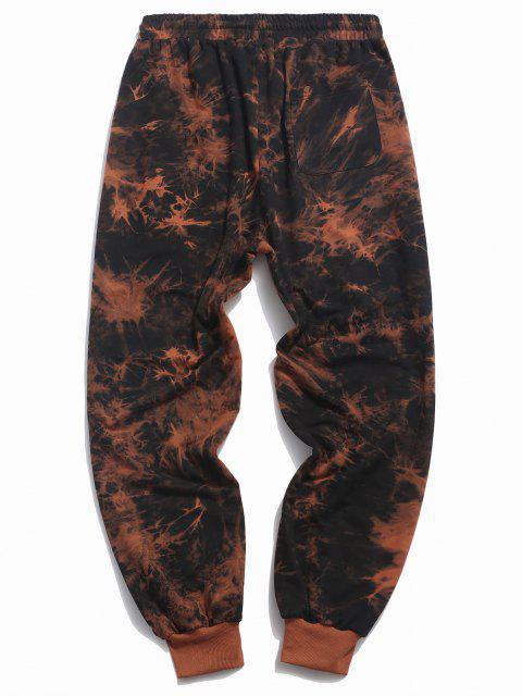 ZAFUL Pantalones Deportivos con Estampado de Flor Tie-dye - Naranja Oscuro 2XL Mobile
