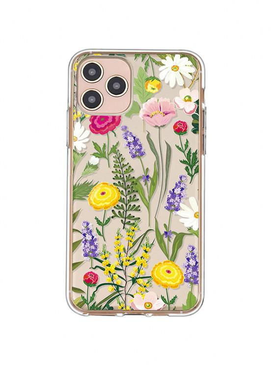 online Flowers Transparent Phone Case For IPhone - BRIGHT YELLOW IPHONE 11PRO