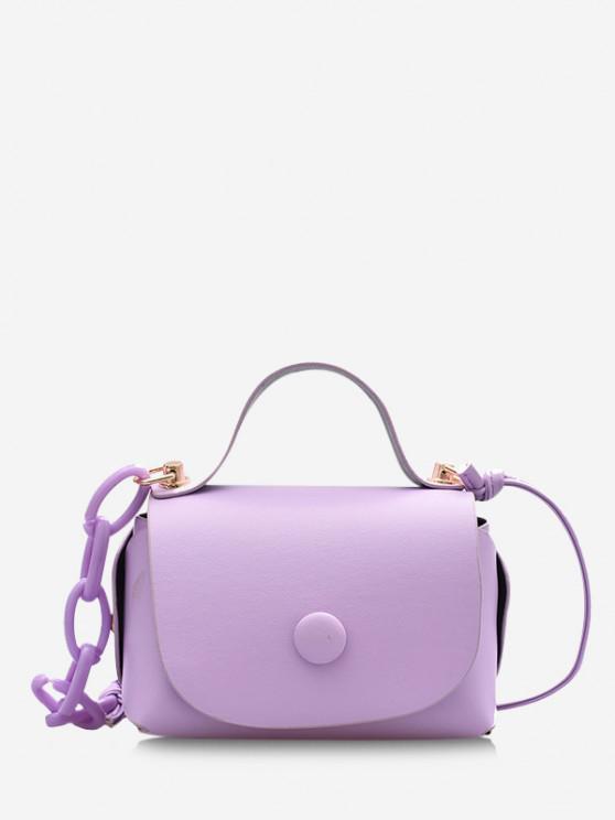 women Mini Chain Cover Crossbody Bag - LIGHT PURPLE