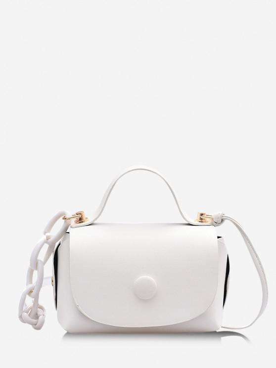 women's Mini Chain Cover Crossbody Bag - WHITE