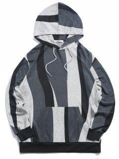 ZAFUL Colorblock Pattern Knit Hoodie - Multi S