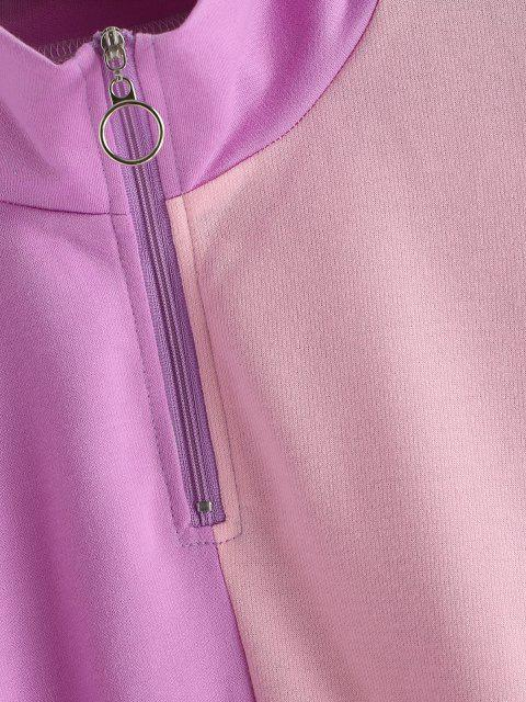 shops Colorblock Half Zip Sweatshirt - MULTI S Mobile