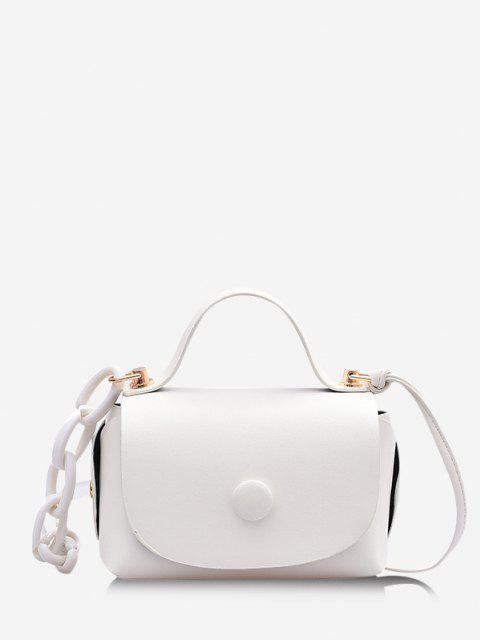 women's Mini Chain Cover Crossbody Bag - WHITE  Mobile