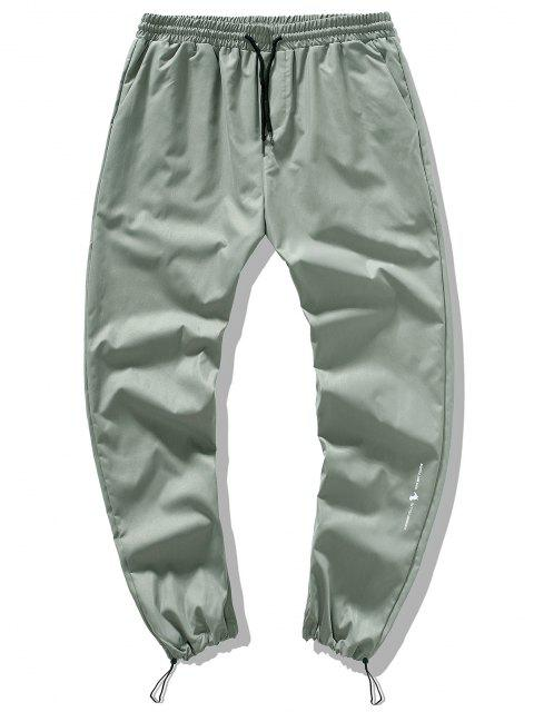 Pantalones Casuales de Pies de Viga con Detalle de Cordón - Verde claro XS Mobile