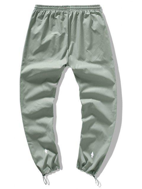 ladies Casual Arrow Detail Toggle Drawstring Beam Feet Pants - LIGHT GREEN XL Mobile