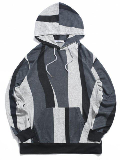 lady ZAFUL Colorblock Pattern Knit Hoodie - MULTI XL Mobile