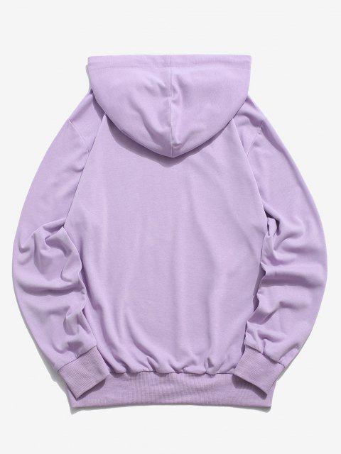hot ZAFUL Dragon Pattern Chinoiserie Hoodie - LIGHT PURPLE S Mobile