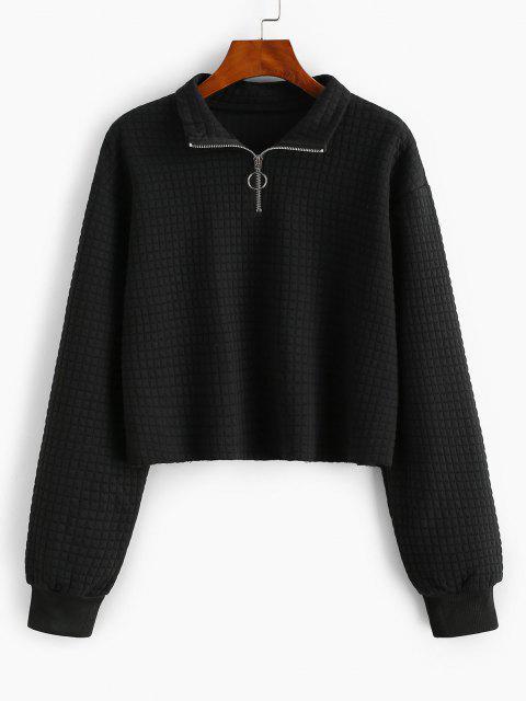 affordable Pull Ring Marled Raw Hem Sweatshirt - BLACK XL Mobile