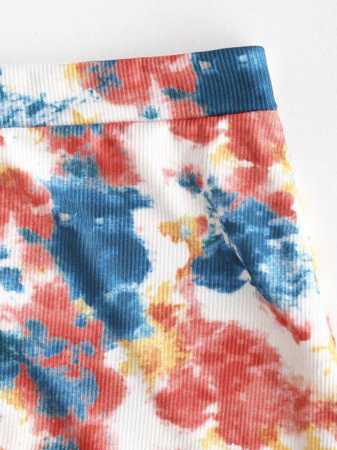 ZAFUL Krawattenfärbender Gerippter Kopfsalat Trim Strand Rock - Multi L Mobile