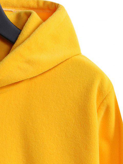 Sudadera con Capucha de Bolsillo de Canguro de Bloque de Color - Caucho Ducky Amarillo M Mobile