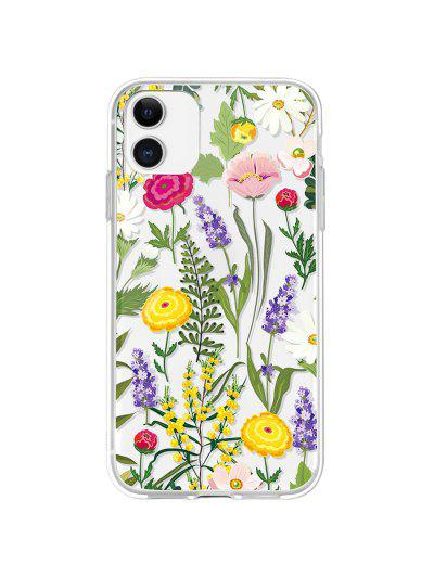 Flowers Transparent Phone Case For IPhone - Bright Yellow Iphone 11
