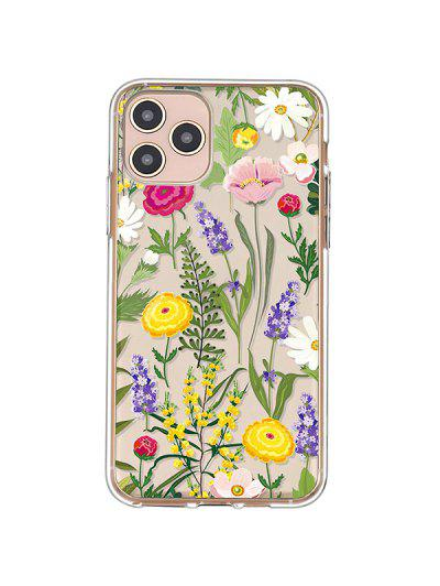 Flowers Transparent Phone Case For IPhone - Bright Yellow Iphone 11pro