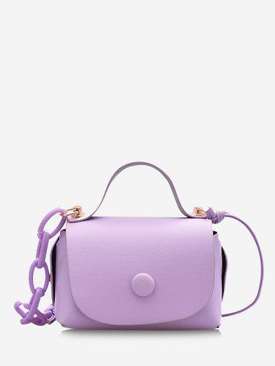 Mini Chain Cover Crossbody Bag - Light Purple